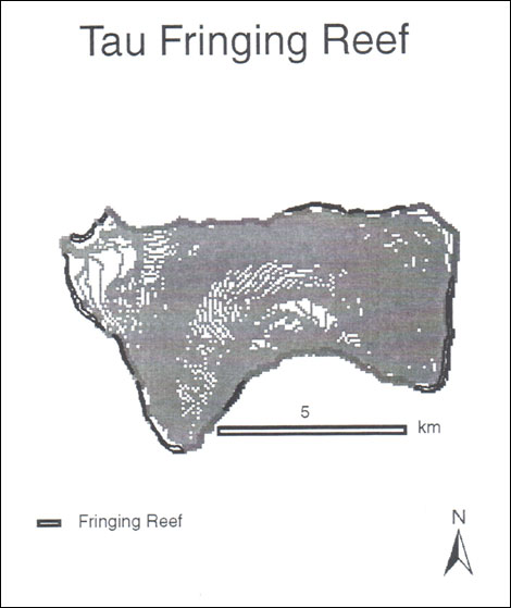 Figure 2: Ta'u's fringing reef