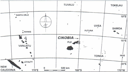Figure 1: Location of Futuna and 'Uvea in the north of West Polynesia