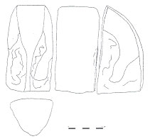 Figure 3: Proximal part of a large adze of Samoan origin, discovered in the south of 'Uvea.